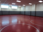 1/29: This is the wrestling room. It is also used by the cheerleaders, which is why it has a high ceiling.