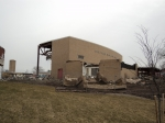 2/16: From this angle you can see that the auditorium is completely gone and only the front remains. I suspect that will